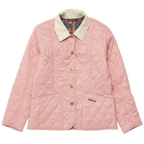 Girls' Barbour Printed Liddesdale Quilted Jacket P139-Pink