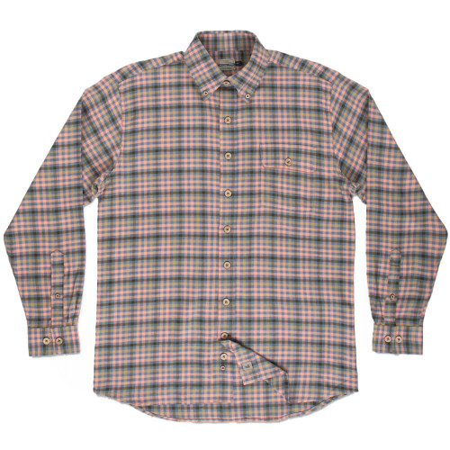 Men's Southern Marsh Boothville Flannel Button Down SLDG-Slate & Dark Green Front