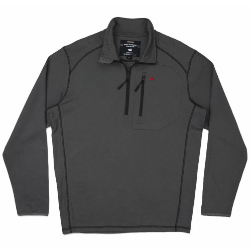 Men's Southern Marsh Endzone Performance Black With Red Pullover