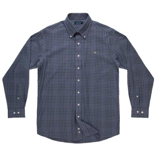 Men's Southern Marsh Pittman Grid Navy Gray Shirt