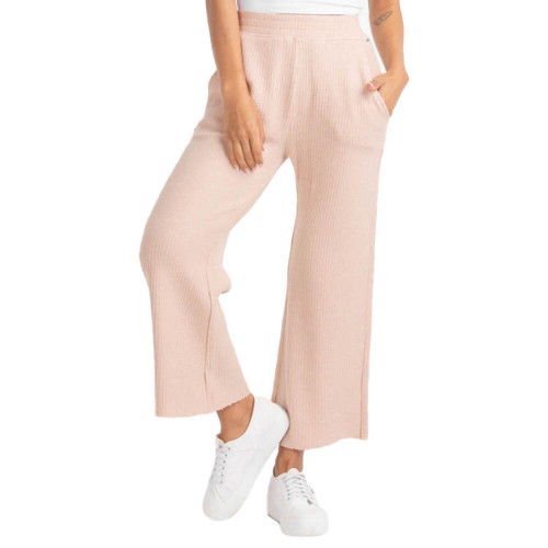 Women's Southern Shirt Co. Waffle Knit Cropped Desert Rose Pants