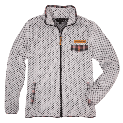 Women's Simply Southern Simply Soft Zip Gray Jacket