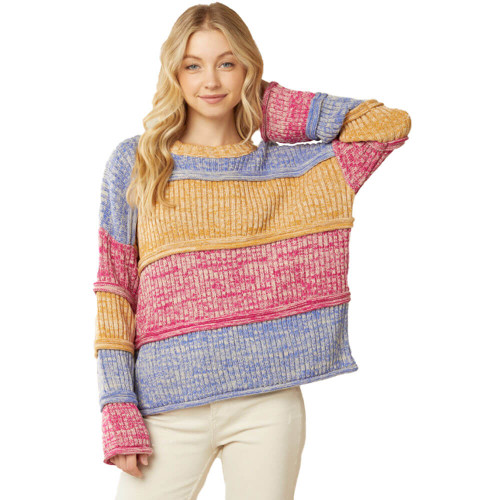 Women's Multi-Color Tiered Sweater