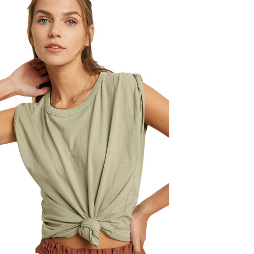 Women's Wishlist Rolled Sleeve Top Front SOLIVE