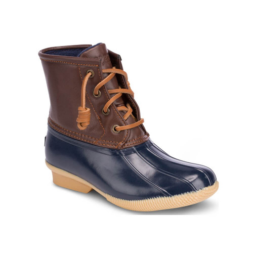 Youth Sperry Saltwater Navy Duck Boots