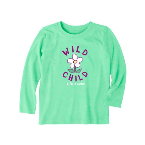 Toddler Girls' Life is Good Long Sleeve WIld Child Flower Tee