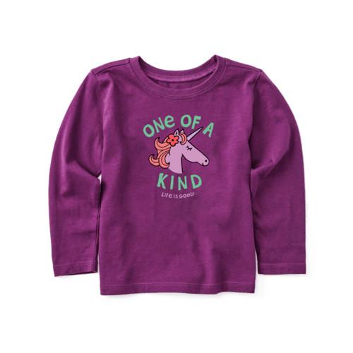 Toddler Girls' Life is Good Long Sleeve Kind Unicorn T-Shirt
