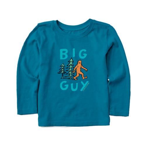 Toddler Boys' Life is Good Long Sleeve Big Guy Tee