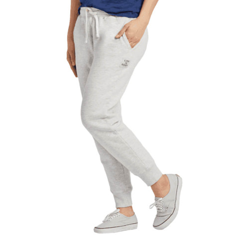 Women's Life is Good Simply True Jogger - Heather Gray