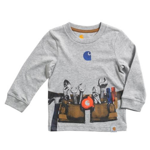 Infant/Toddler Boys' Carhartt Long Sleeve Toolbelt Grey Heather Tee
