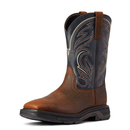 Men's Ariat WorkHog XT Cottonwood Work Boot - Brown Oiled Rowdy