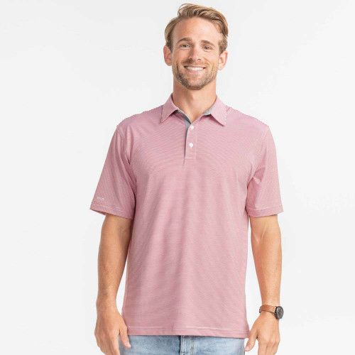 Men's Southern Shirt Russell Stripe Polo Slate Red