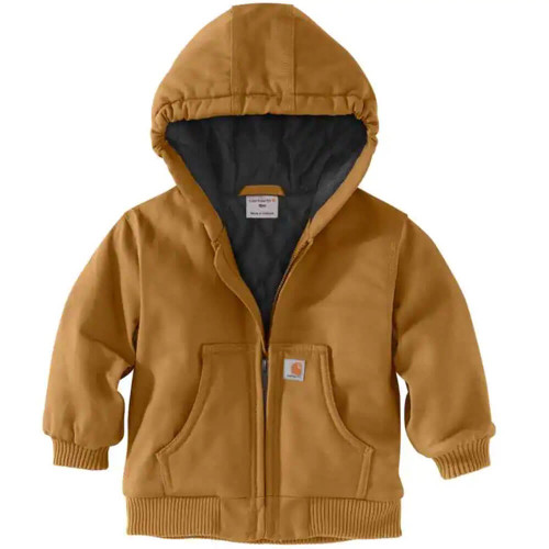 Toddler Boys' Carhartt Active Jac Flannel Lined Carhartt Brown Jacket