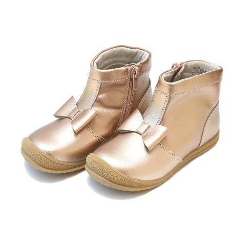 Girls' L'Amour Hilary Bow Rose Gold Boot