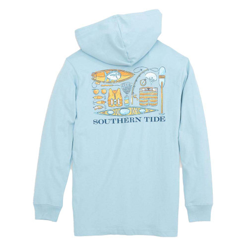 Boys' Southern Tide Watersports Icons Hoodie Back