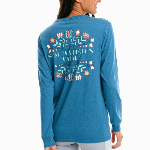 Women's Southern Tide Long Sleeve Floral ST Tee