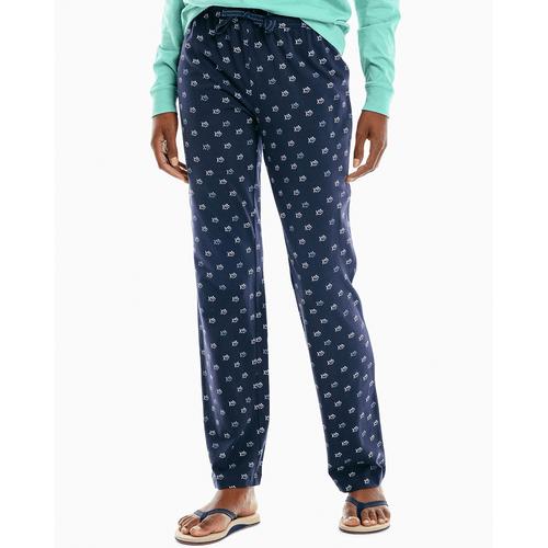 Women's Southern Tide Skipjack Lounge Pants - True Navy Front