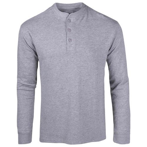 Men's Mountain Khaki Trap Henley Heather Grey Shirt