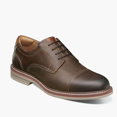 Men's Florsheim Norwalk Cap Toe Oxford Dress Shoe - Brown CH