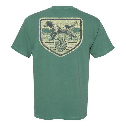 Men's Southern Fried Cotton Short Sleeve Hunting Season Tee - Light Green Back