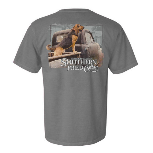 Men's Southern Fried Cotton Short Sleeve Gus Tee - Concrete Back