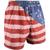 Boys' Aftco Boatbar Swim Trunks Red Side