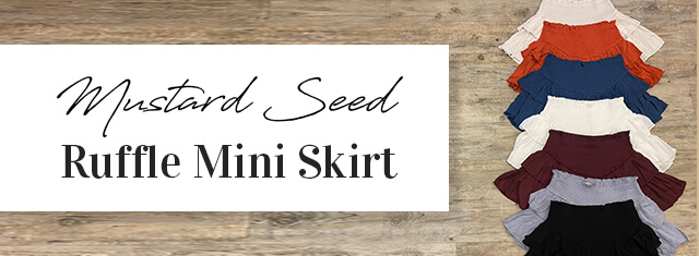 Mustard Seed Ruffle Mini Skirt