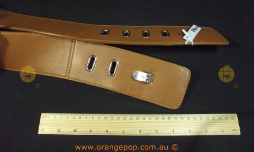 Tan brown wide Women's Ladies Fashion Belt