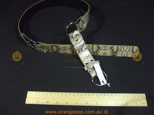 Snake printed silver rings Women's Ladies Fashion Belt