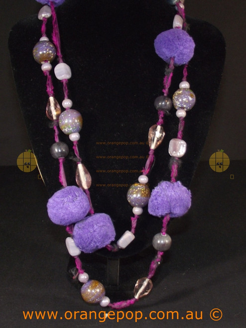 Abstract women's purple toned necklace