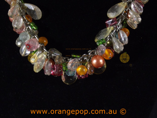 Multi coloured beaded women's necklace