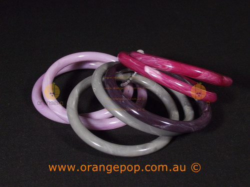 6 pack of women's bracelets, pink with greys