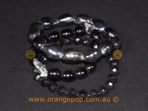 Set of three black bracelets
