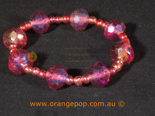 Pink toned women's bracelet