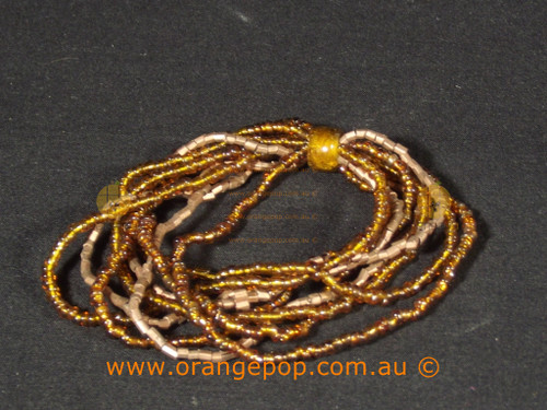 Brown beaded women's bracelet