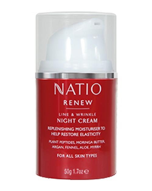 Natio Renew Line & Wrinkle Night cream anti aging