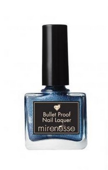 Mirenesse Bullet proof nail lacquer polish 15 Midnight In Paris blue
