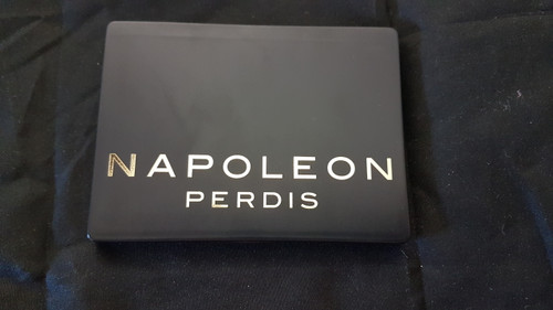 Napoleon Perdis Black compact makeup beauty mirror in travel pouch