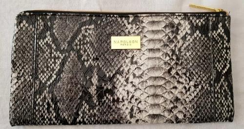 Napoleon Perdis Limited Edition Black Snake print makeup bag