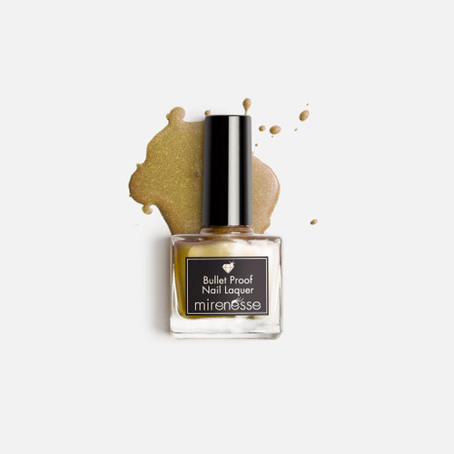 Mirenesse Bullet proof nail lacquer polish Gold