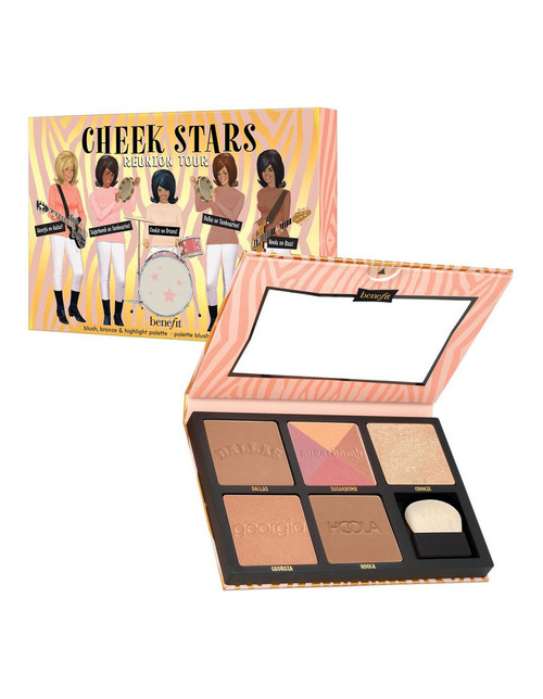 Benefit Cosmetics CHEEK STARS REUNION PALETTE 5 FULL SIZE  Blush, bronze & highlight palette