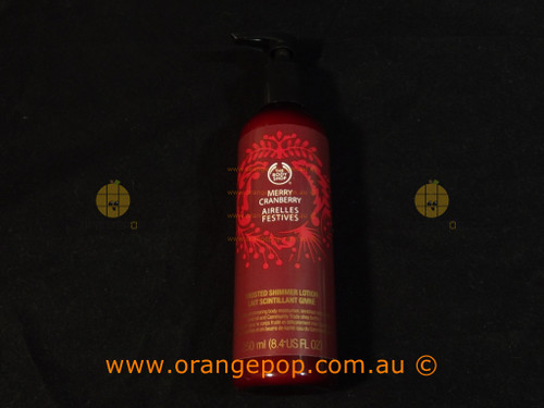 The Body Shop Limited Edition Merry Cranberry Frosted Shimmer Body Lotion 250ml
