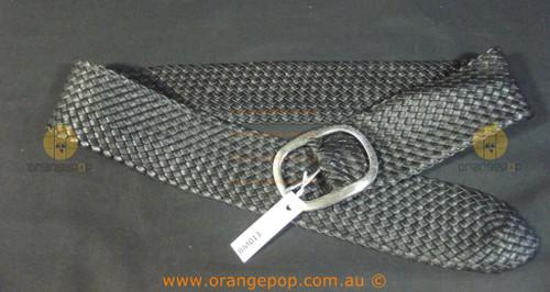 Black braided leather look Women's Ladies Fashion Belt