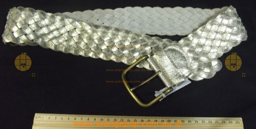 BILLABONG metallic Silver leather Women's Ladies Fashion Belt