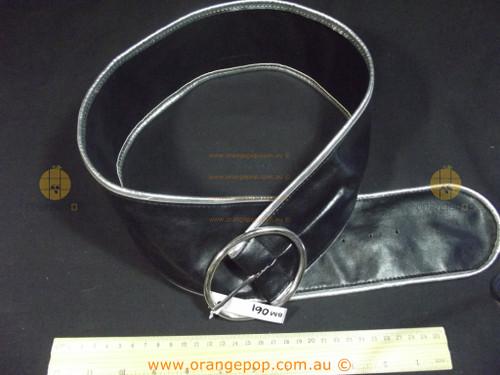 Black with silver trim Women's Ladies Fashion Belt