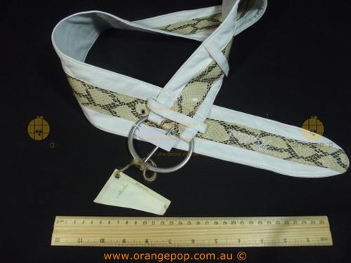 RIPCURL white with snake print Women's Ladies Fashion Belt