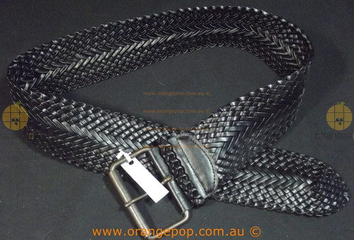 Wide black braided Women's Ladies Fashion Belt '