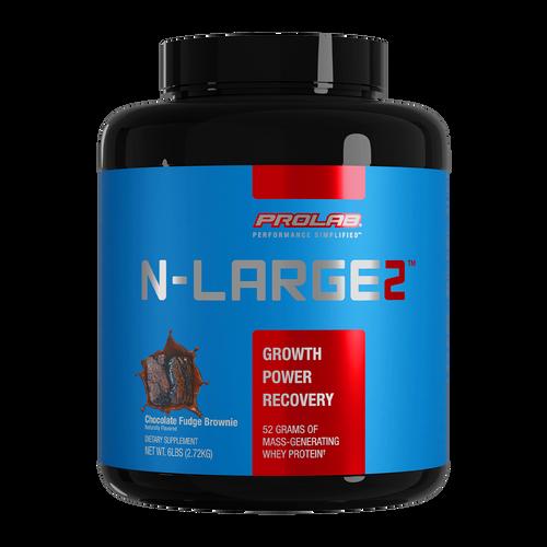 Prolab Nutrition N-Large2 Mass Gainer Chocolate Fudge Brownie