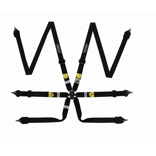Corbeau are proud to introduce a full range of FIA 8853-2016 harnesses for the serious racer where safety and weight are paramount.  With the introduction of the new FIA 8853-2016 standard, the Ultima-Pro Black edition harnesses have been re-engineered bringing them up to the latest specification and adding more user friendly features.  Using the latest lightweight webbing, lightweight aluminium adjusters for a smoother faster and secure adjustment on the shoulder straps, coupled with a lightweight magnesium alloy release box with a newly designed tang guide, gives the driver assured positioning to insert the shoulder and lap straps first time and in the correct position.  These cutting edge components all add up to a significant weight saving when compared to a standard race harness, while maintaining full FIA approval.  The Ultima-Pro H2026 harness is available in black, red and blue with 6 point fixings. Using 50mm webbing all round this is a unique harness designed specifically for use with a HANS® device.  We are very proud of what has been achieved and believe this truly is the best harness on the market, realistically priced to suit all disciplines at any level.  Welcome to the future.
