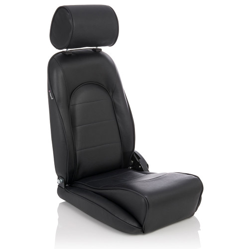 Designed for Vintage Vehicles and Kit Cars The Smallest Reclining Seat Available on the Market Bespoke Trim Options High Quality Moulded Foam Base Mount Fitment Ideal for Installation Where Cockpit Space is at a Premium